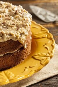 German Chocolate Gluten Free Dairy Free Egg Free Cake